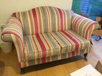 2 seater striped sofa.