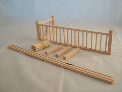 "Railing Kit #1   5/16 Post dollhouse trim 12""long 1/12 scale miniature MW12081"