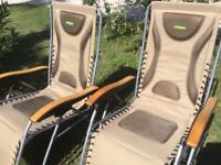 2 excellent Outback Loungers , used for 1 holiday only , as. New