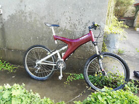 Trek Y22 full suspension Carbon Framed Retro Mountain Bike