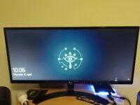 "LG Ultrawide 29"" monitor"