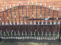 Wrought iron gates and railing