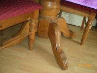 pine dining table with 6 chairs