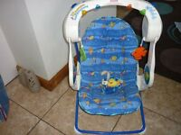 Baby Swing Fisher Price Aquarium with Music & Lights, Folds to Transport.