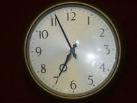 Original Smiths office electric wall clock, post WWII