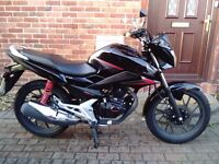 2015 Honda CB125F motorcycle, very low miles, perfect runner, very good condition, bargain, cbf glr