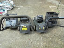 2 champion petrol lawn mowers