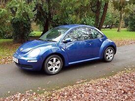 2007 Volkswagen Beetle 1.4 luna 1 owner fsh £2295 *focus astra megane a3 308 c4 size car *