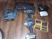 Makita 3 pieces drills and jigsaw set