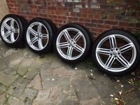 """Genuine AUDI RS6 20"""" ALLOYS & TYRES. Fit A7, A6, A8,"""