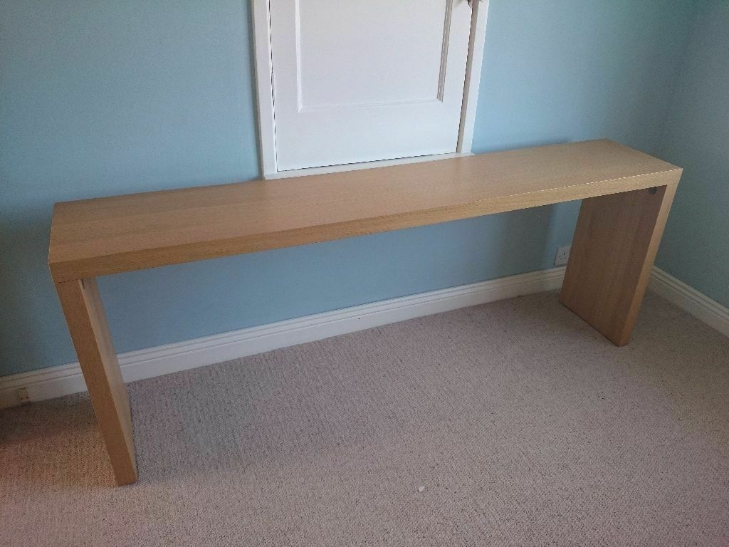 ikea console table over bed