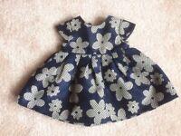 Almost new, Stunning Jasper Conran Baby Girls Dress, 0-3 months.