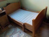 IKEA LEKSVIK CHILDRENS / TODDLER BED. EXTENDING SINGLE KIDS BED.