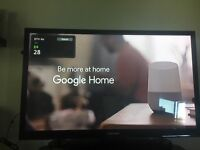 """43"""" Samsung tv with Freeview built-in. Black"""