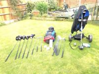 A complete Set of Ram Golf Clubs With Golf Bag & Trolly.