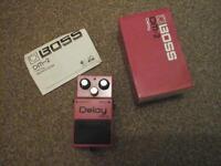 boss dm2 delay effect pedal 1983 green label