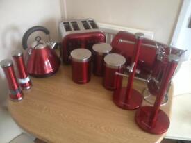 Morphy Richards red kitchen set