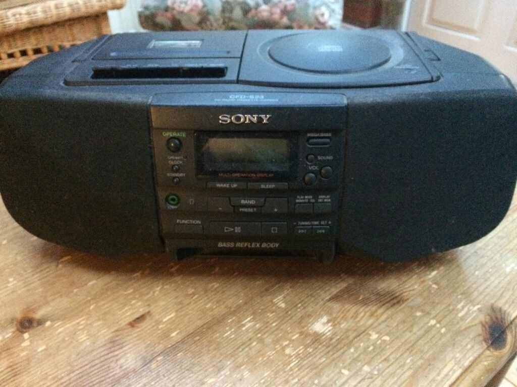 sony cd radio cassette corder cfd s23 in caversham. Black Bedroom Furniture Sets. Home Design Ideas