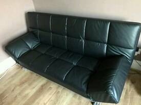 Faux leather sofa studio bed