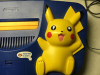 Special Edition Pokemon Pikachu N64 Console with Pokemon Controller and games. Poke fans