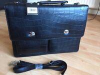Unisex Black Laptop File Shoulder Bag Carry Case Briefcase Work Office
