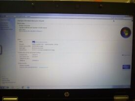 Hp elitebook 8440p intel core i7 4GB 320HDD