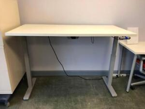 Height Adjustable Table with Herman Miller Top - $599