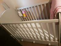Ikea cot with draws