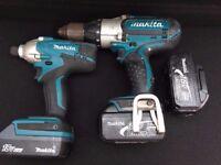 Makita Drill Set Combi Drill + Impact Driver & COMBI DRILL 3AH Battery