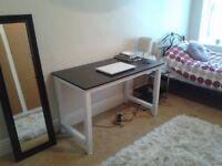 Black and white modern work study desk living room bedroom furniture