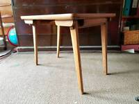 Mid century modern wooden folding side table 50s 60s old vintage danish coffee