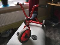 Classic Design Retro Style Red Kids Tricycle