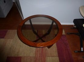 Round Glass Top Coffee Table(flowers not included)