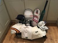 Cricket gear Youths suitable for 12-14 year old, good condition