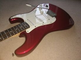 Fender Stratocaster Squier Affinity, Red (all setup and ready to go)+Gig bag