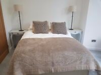 All White Company Bedding Items - throw and four cushions