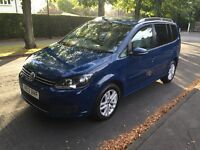 VW Touran 1.6 TDI , 7 Seater Blue 1 Owner From New !! Full Service History