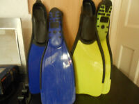 2 PAIRS OF FLIPPERS
