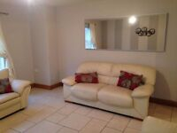 Cream Leather Sofas, Matching 3 & 2 Seater Sofa, Separate 2 Seater Available Collection Only