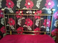 brass effect double bed headboard marble effect balls,