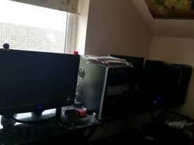 Solid glass black corner desk