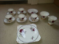 Royal Stafford bone china est 1845 roses to remember tea set