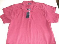 2 BRAND NEW POLO SHIRTS 100% COTTON (SIZE LARGE)