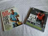 Bear Grylls dairy wheat and sugar free recipe book and Body Weight workout book for men