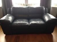 Navy leather suite for sale