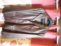 mens fine leather brown jacket