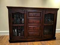 Jali sheesham sideboard drinks cabinet