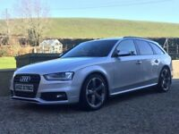 Audi A4 Avant estate, s-line black edition, 175, 2013, 71k, silver*******