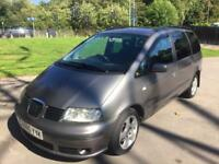 SEAT Alhambra 1.9 TDI PD SX 7 Seats, Service history Mot, Excellent condition.