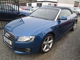 Audi A5 2.0 TDI CABRIOLET SE + S LINE ALLOYS+BLACK HEATED LEATHER+FULL AUDI SERVICE H... (blue) 2011